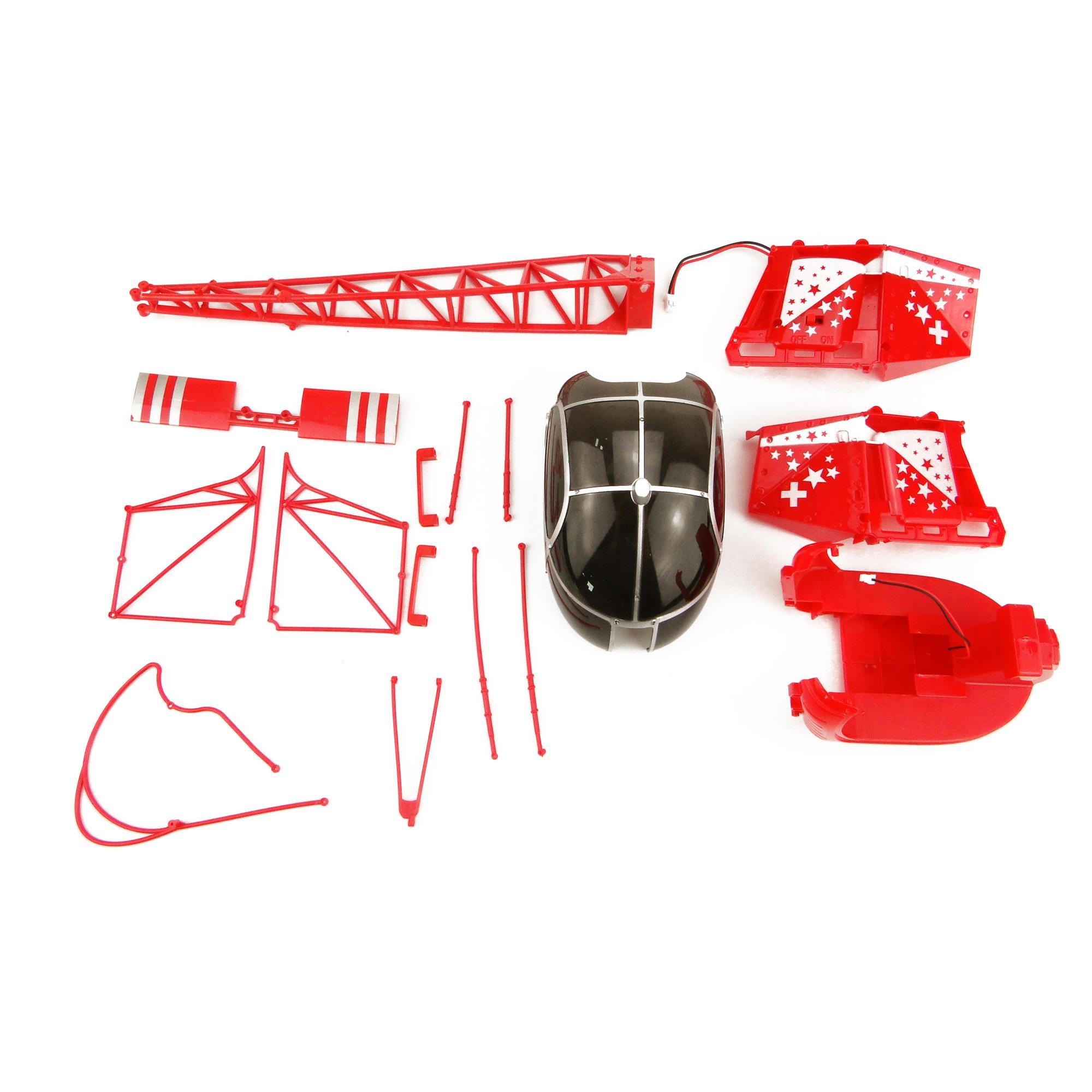WLToys Lama V915-05 Haupt-Rotorblätter rot  passend für Amewi 25168