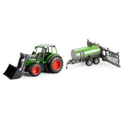 Traktor mit Sprühanhänger