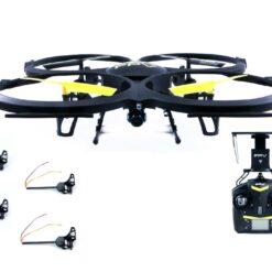 UDI U818A WIFI 2.0 MP FPV Quadcopter in schwarz mit Altitude Mode mit 4 passenden Auslegern- 1.jpg
