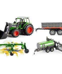 efaso Double E E356 003 RC Traktor mit Schaufel 2,4GHz RC + 3 Anhänger