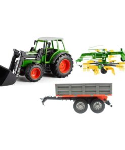efaso Double E E356 003 RC Traktor mit Schaufel 2,4GHz RC + Heuwender + Kippanhänger
