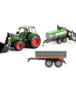 efaso Double E E356 003 RC Traktor mit Schaufel 2,4GHz RC + Sprühanhänger +Kippanhänger